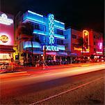 Colony Hotel at Night Ocean Drive, Miami Beach, Miami, Florida, USA