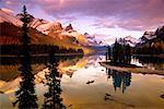 Spirit Island on Maligne Lake, Jasper National Park, Alberta, Canada