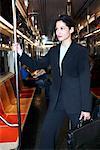 Businesswoman on Subway