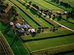 Vue aérienne de la ferme, Lancaster, Pennsylvanie, Etats-Unis