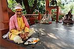 Priests at Hindu Temple New Delhi, India