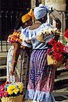 Women Carrying Baskets of Flowers, Cuba