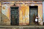 Woman Standing on Street, Cuba