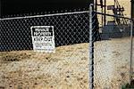 Signe de propriété privée sur la clôture