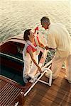 Paar aus Boot
