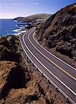 Kalanianaole Highway Ko'olau Mountain Range Oahu, Hawaii, USA