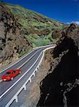 Car on Kalanianaole Highway Oahu, Hawaii, USA