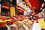 Food Stand in Market Brussels, Belgium