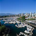 Granville Island and Marina, Vancouver, British Columbia, Canada