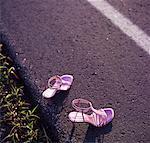 High Heels on Side of Road