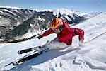 Descente bol skieur, Highland, Aspen, Colorado, USA