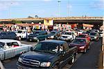 Postes frontaliers à Tijuana, au Mexique et aux Etats-Unis