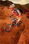 Man Mountain Biking, Red Rocks, Colorado, USA
