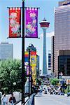 Calgary Tower from Centre Street Bridge, Alberta, Canada