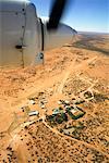 Aerial of Station in Desert, Muloorina Station, South Australia, Australia