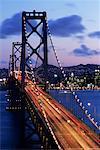 Oakland Bay Bridge at Sunset, San Francisco, California, USA