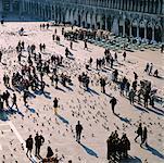 Foule à la place Saint-Marc, Venise, Italie