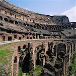 Intérieur du Colisée, Rome, Italie