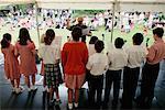 School Choir and Conductor, Marylebone, London, England