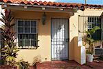 Maison de Style espagnol à South Beach, Miami, Florida, USA