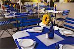 Tables in Restaurant, South Beach, Miami, Florida, USA