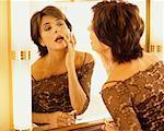 Frau Anwendung Make-up