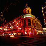 Printemps Building at Night, Paris, France