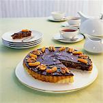 Honig-Walnuss und getrocknete Früchte Torte für Rosh Hashannah