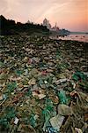 Garbage at the Jumana Riverbank, Agra, India