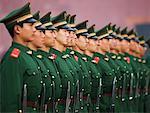 Wachen in der verbotenen Stadt, Peking, China