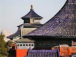 Sur les toits du Temple du ciel, Tian Tan Park, Pékin, Chine