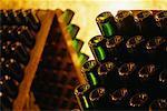 Close-Up of Wine Rack