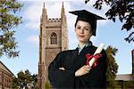 Portrait of Graduate, University Of Toronto, Toronto, Ontario, Canada