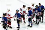 Hockey Teams Shaking Hands