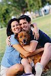 Portrait de Couple avec chien