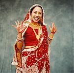 Hindu Bride in Ceremonial Dress