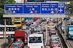 Traffic on Connaught Road, Hong Kong, China