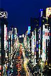 Ginza Street at Dusk, Tokyo, Japan