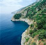 Vue d'ensemble de Praiano, Salerne, Amalfi, Italie