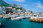Boats in Harbour, Marina Grande Harbor, Capri, Naples, Italy