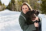 Porträt Frau mit Hund