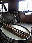 Drum Set en Studio d'enregistrement