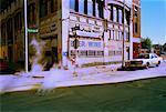 Street Corner, Detroit, Michigan, USA