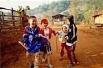 Children Playing, Karen Nation, Thailand