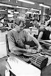 Man Working in Cigar Factory
