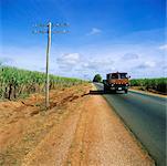 Truck on Rural Road, Cuba