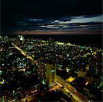 Cityscape La Havane, Cuba la nuit