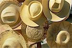 Hats On Display At Outdoor Market, Havana, Cuba