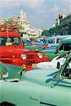 Voitures anciennes, la Havane, Cuba
