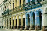 Vieux bâtiment, la Havane, Cuba